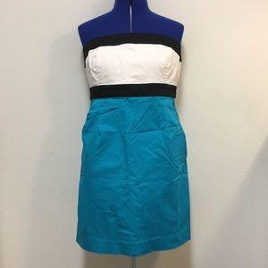 New York & Co Color-block Strapless Dress Sz 12